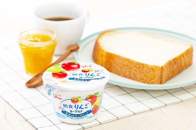 【江崎グリコ】朝食りんごヨーグルト