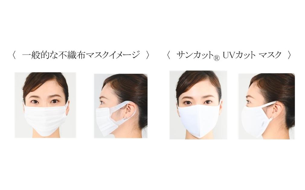 不織布マスクと『UVカット マスク』の比較