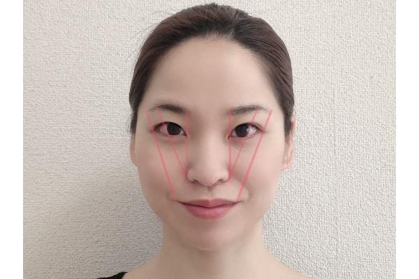 眉毛の形を作る位置を把握する