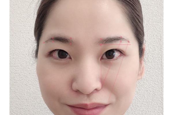 眉毛の基盤を作る