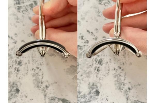 写真左:カーブ浅めのビューラー/写真右:カーブ強めのビューラー