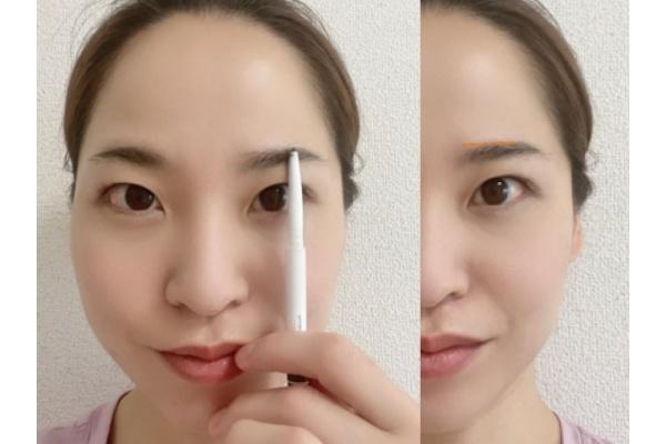 平行眉の描き方
