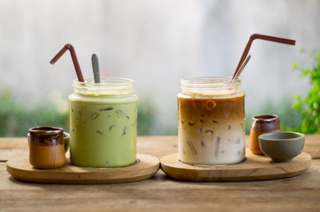 B:「コーヒー・緑茶」