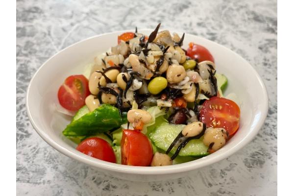 ひじきと豆でさっぱりヘルシーサラダ