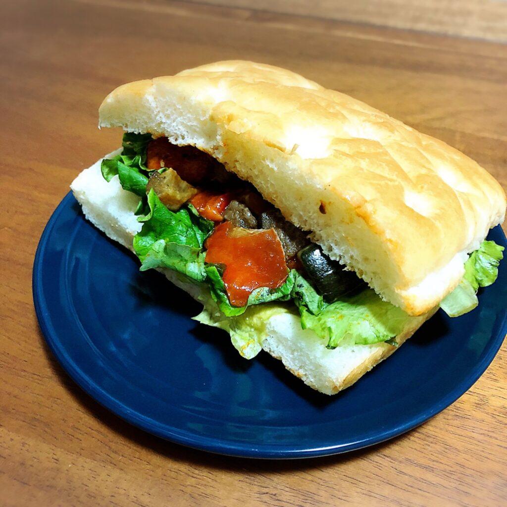 【スタバ】『グリル野菜&ソイハンバーグ フォカッチャ』