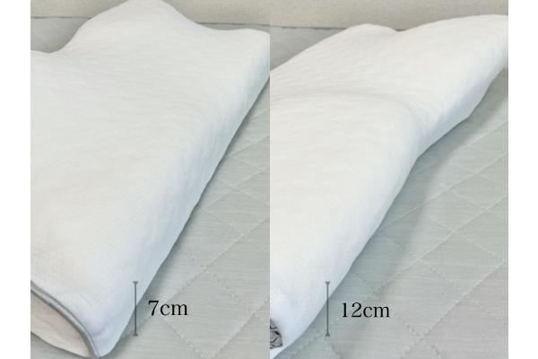 『眠りを科学する 健康睡眠枕』 高さ、形状