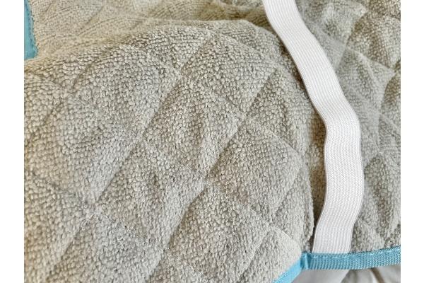 【3COINS】【ひんやりファブリック】接触冷感枕パッド』 裏質感
