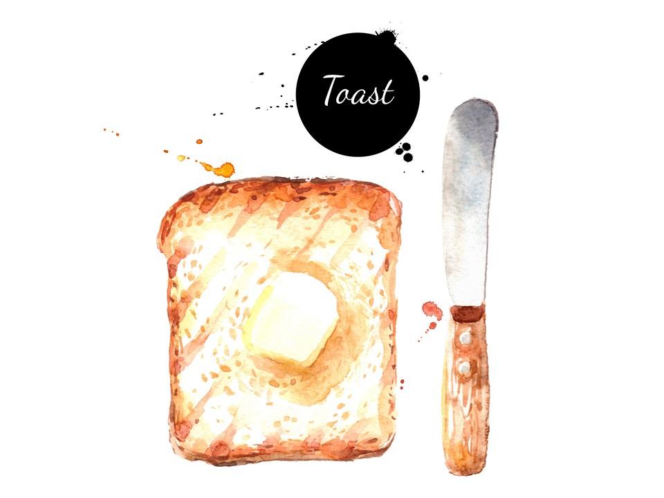 A:「トースト」