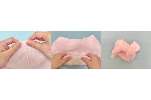 『ソフィ 超熟睡®ショーツ ショーツ型ナプキン』捨てる際のまとめ方