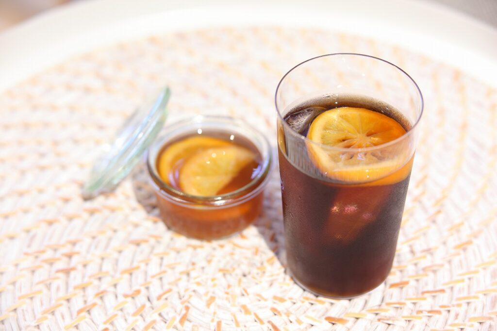 発酵レモンシロップをアイスコーヒーに