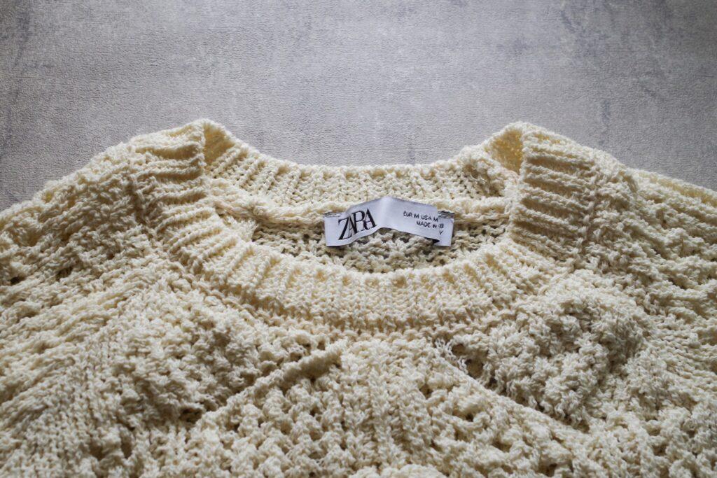 【ZARA】『ポインテールセーター』
