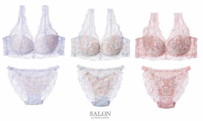 【SALON by PEACH JOHN】『グランフルールブラ』¥5,060『グランフルールショーツ』¥2,640『グランフルールソング』¥2,640