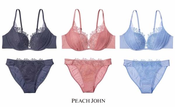 【PEACH JOHN】『自由のブラフラワーベール』¥3,278『自由のショーツフラワーベール』¥1,628