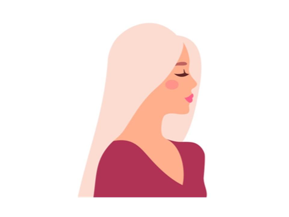 髪色がシルバーアッシュの女性