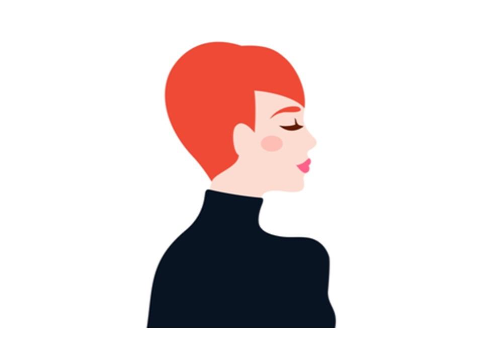 髪型がベリーショートの女性
