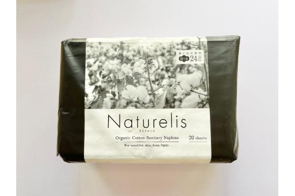 『大王製紙 ネイチャリス オーガニックコットンナプキン 多い日の昼用 羽つき24cm』 パッケージ おもて